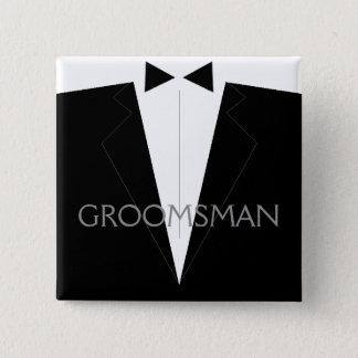 Classic Groomsman Flair Button
