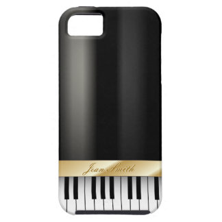 Classic Ground Piano Dark Metal iPhone 5 Case