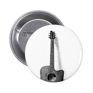 Classic Guitar 2 Inch Round Button