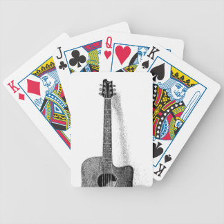 Classic Guitar Bicycle Playing Cards
