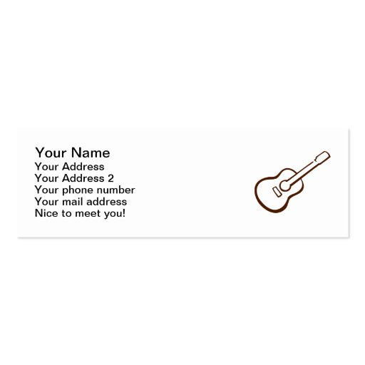 Classic Guitar Business Cards