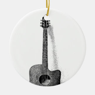Classic Guitar Ceramic Ornament