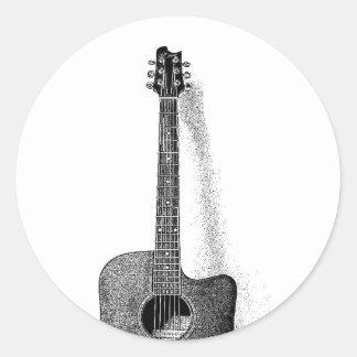 Classic Guitar Classic Round Sticker