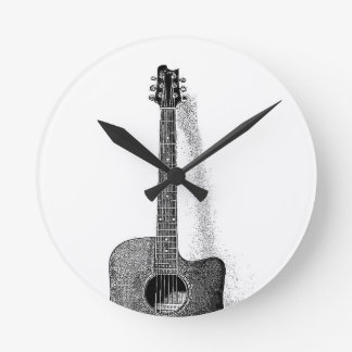 Classic Guitar Round Clock