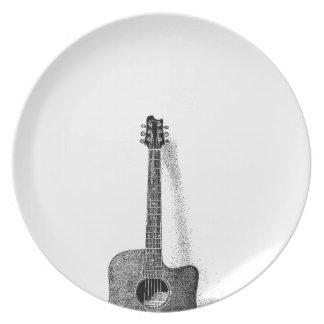 Classic Guitar Dinner Plate