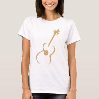 Classic Guitar in Swish Drawing Style T-Shirt