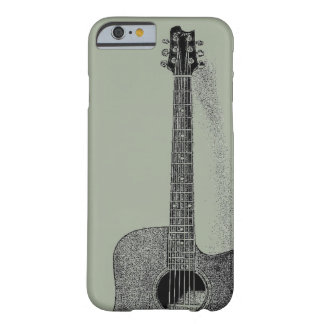 Classic Guitar Ink Sketch Pop Art Barely There iPhone 6 Case