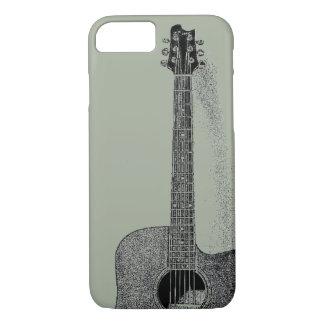 Classic Guitar Ink Sketch Pop Art iPhone 7 Case