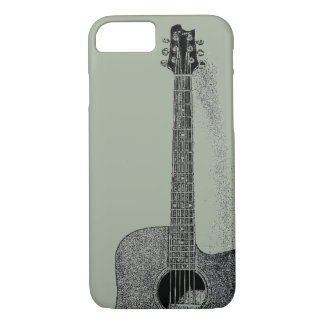Classic Guitar Ink Sketch Pop Art iPhone 8/7 Case