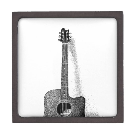 Classic Guitar Jewelry Box