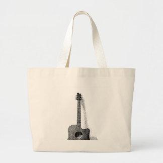Classic Guitar Large Tote Bag