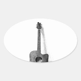 Classic Guitar Oval Sticker