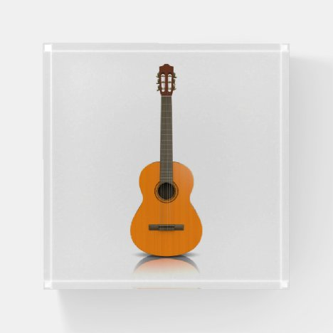 Classic guitar paperweight