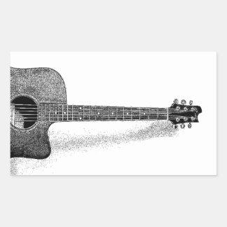 Classic Guitar Rectangular Sticker