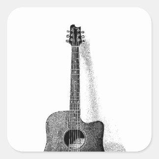 Classic Guitar Square Sticker