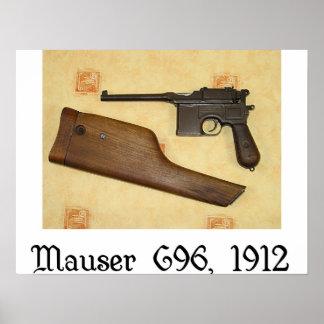 classic guns - Mauser C96 Poster