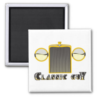 Classic Guy – Shiny chrome grille from classic car Magnet