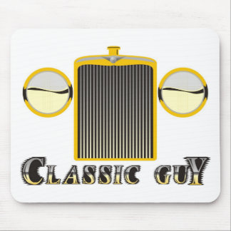 Classic Guy – Shiny chrome grille from classic car Mouse Pad