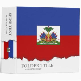 Classic Haitian Flag 3 Ring Binder