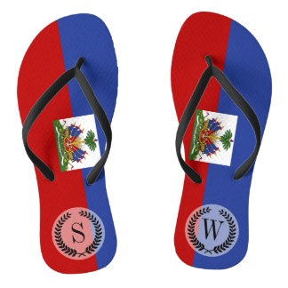 Classic Haitian Flag Flip Flops