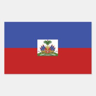 Classic Haitian Flag Rectangular Sticker