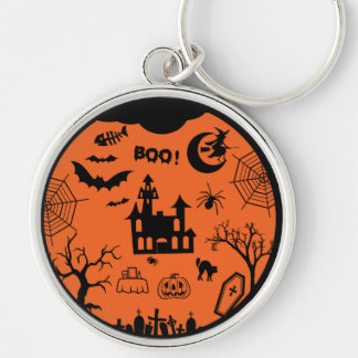 Classic Halloween Collage Key Chains