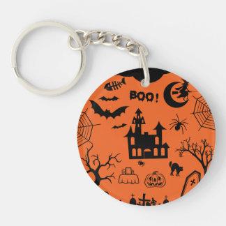 Classic Halloween Collage Acrylic Keychain
