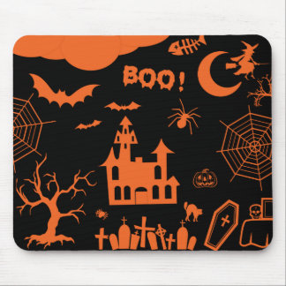 Classic Halloween Collage Mouse Pad