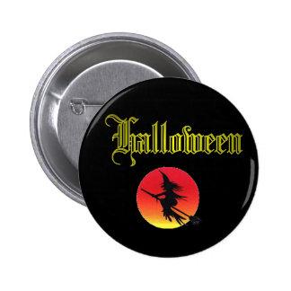 Classic Halloween Design. Button