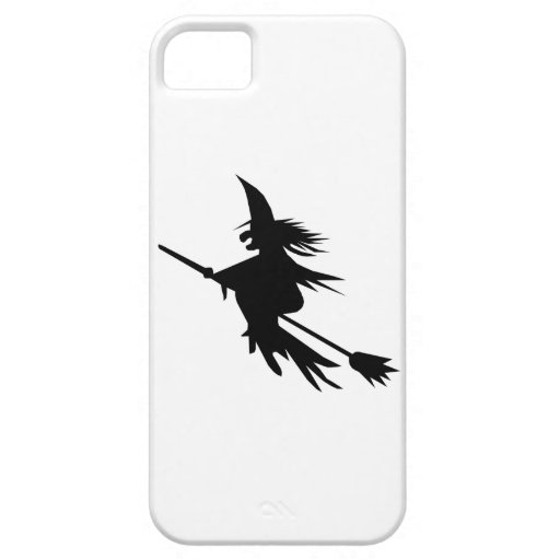Classic Halloween Flying Witch Broomstick Shadow iPhone SE/5/5s Case
