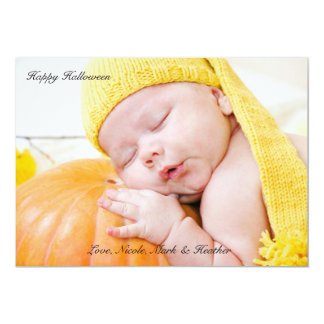 Classic Halloween Photo Notecard 5x7 Paper Invitation Card