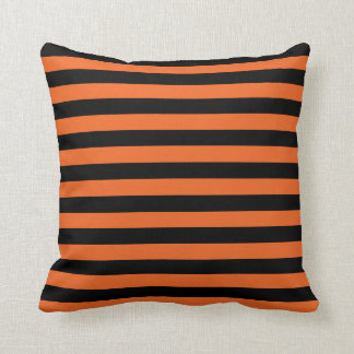 Classic Halloween Witch Stripes Throw Pillow