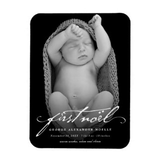 Classic Handwriting Baby First Christmas Magnet