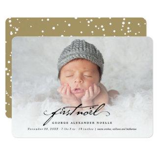 Classic Handwriting Baby First Noel Photo Card