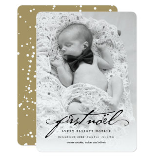 Classic Handwriting Baby's First Noel Photo Card