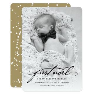 Classic Handwriting Baby's First Noel Photo Card