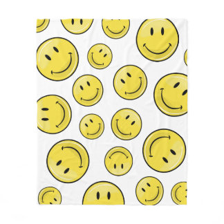 Classic Happy Face Fleece Blanket
