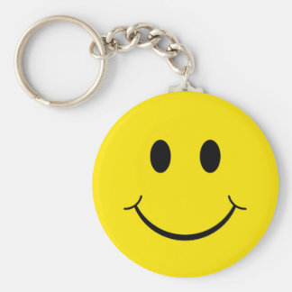 Classic Happy Face Key Chain