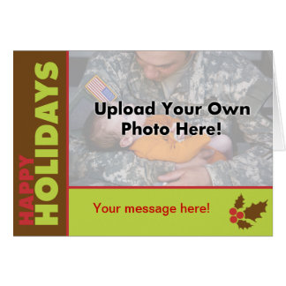 Classic Happy Holidays Photo Template Card