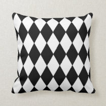 Classic Harlequin Diamond Pattern Throw Pillow