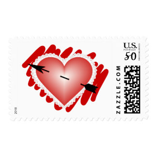 Classic Heart and Arrow Postage