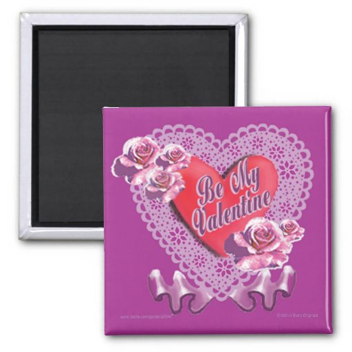 CLASSIC HEART SQUARE MAGNET