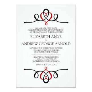 Classic Heart Traditional Wedding Invitation