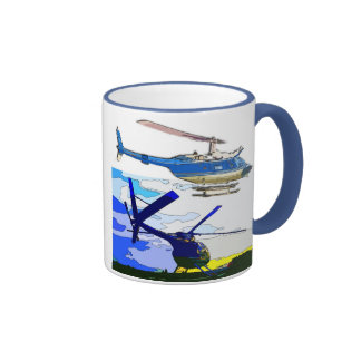Classic helicopters ringer mug