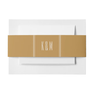 Classic Hexagon Invitation Belly Band - Gold