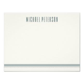 Classic Hexagon Men's Stationery - Ocean Card