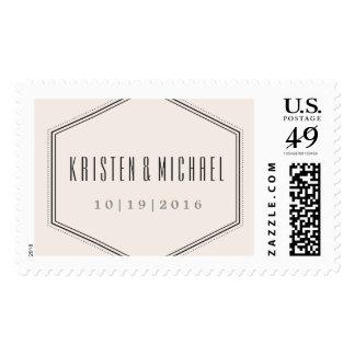 Classic Hexagon Postage Stamp - Coal