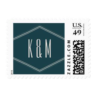 Classic Hexagon Postage Stamp - Ocean