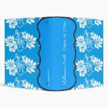 Classic Hibiscus Personalized Avery Binder