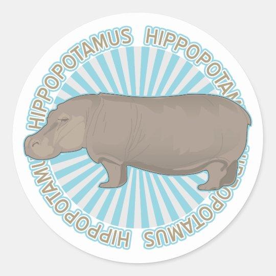 Classic Hippopotamus Classic Round Sticker